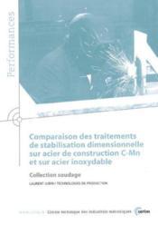 Comparaison des traitements de stabilisation dimensionnelle sur acier de construction cmn ; performanc - Couverture - Format classique