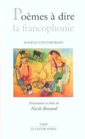 Poemes A Dire La Francophonie - Couverture - Format classique