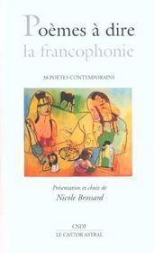 Poemes A Dire La Francophonie - Intérieur - Format classique