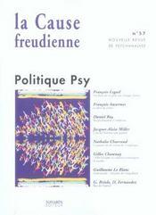 La cause freudienne 57 - politique psy - Intérieur - Format classique