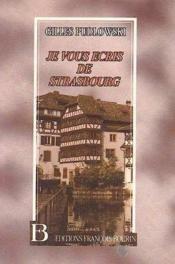 Je vous ecris de strasbourg - Couverture - Format classique