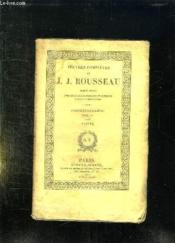 Oeuvres Completes De Jj Rousseau Tome 17: Correspondance Tome 4. - Couverture - Format classique