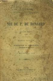 La Vie de P. de Ronsard de Claude Binet (1586) - Couverture - Format classique