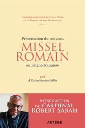 Présentation du nouveau missel romain en langue française ; à l'intention des fidèles - Couverture - Format classique