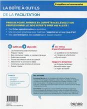 La boîte à outils ; de la facilitation - 4ème de couverture - Format classique