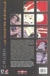 Le Monstre S'Eveille - 4ème de couverture - Format classique