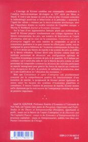 Concurrence et esprit d'entreprise - 4ème de couverture - Format classique