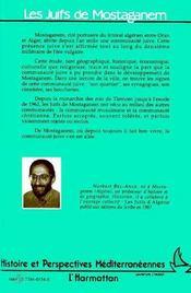 Juifs De Mostaganen - 4ème de couverture - Format classique