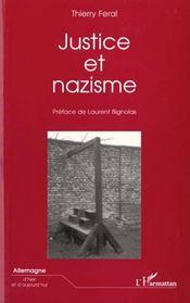 Justice Et Nazisme - Intérieur - Format classique