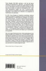 Psychiatrie et démocratie - 4ème de couverture - Format classique