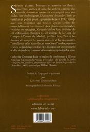 Agriculture des jardins - 4ème de couverture - Format classique