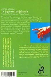 La trilogie de Jéhovah t.2 ; le jugement de Jéhovah - 4ème de couverture - Format classique