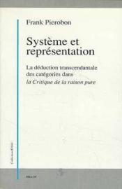 Systeme et representation - Couverture - Format classique