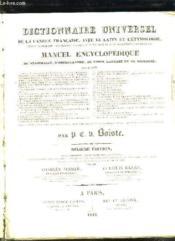 DICTIONNAIRE UNIVERSEL DE LA LANGUE FRANCAISE AVEC LE LATIN ET L ETYMOLOGIE. MANUEL ENCUCLOPEDIQUE DE GRAMMAIRE, D ORTHOGRAPHE, DE VIEUX LANGAGE ET DE NEOLOGIE. 10em EDITION. - Couverture - Format classique