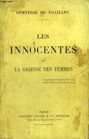 Les Innocentes Ou La Sagesse Des Femmes. - Couverture - Format classique