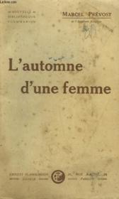 L'Automne D'Une Femme. - Couverture - Format classique