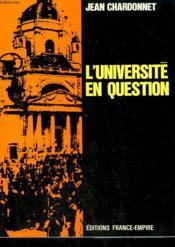 L'Universite En Question. - Couverture - Format classique