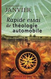 Rapide essai de théologie automobile - Intérieur - Format classique