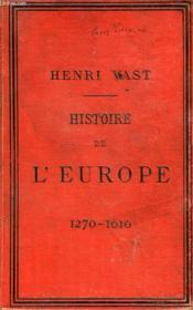 Histoire De L'Europe Et Particulierement De La France, De 1610 A 1789, Classe De Rhetorique - Couverture - Format classique