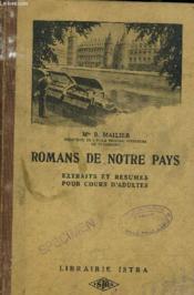 Romans De Notre Pays Extraits Et Resumes Pour Cours Adultes. - Couverture - Format classique