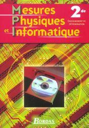 MESURES PHYSIQUES ET INFORMATIQUE ; ENSEIGNEMENT DE DETERMINATION (édition 2004) - Intérieur - Format classique