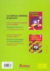 MESURES PHYSIQUES ET INFORMATIQUE ; ENSEIGNEMENT DE DETERMINATION (édition 2004) - 4ème de couverture - Format classique