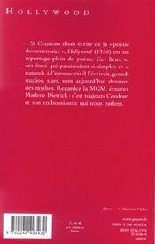Hollywood ; la Mecque du cinéma - 4ème de couverture - Format classique