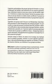 Modernité du groupe dans la clinique psychiatrique - 4ème de couverture - Format classique