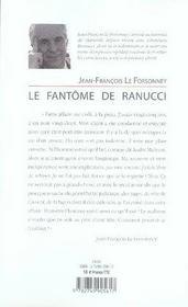 Le fantôme de ranucci ; ce jeune condamné qu me hante - 4ème de couverture - Format classique
