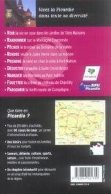 Que Faire En Picardie (edition 2005) - 4ème de couverture - Format classique