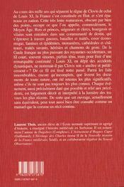 Histoire du moyen-age francais - 4ème de couverture - Format classique