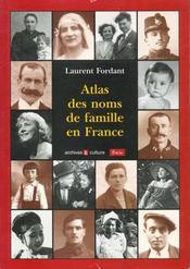 Atlas Des Noms De Famille En France - Intérieur - Format classique