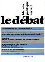 Revue Le Débat N.84 ; mars-avril 1995 - Couverture - Format classique