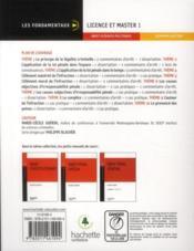 Droit pénal général ; préparation aux examens - 4ème de couverture - Format classique