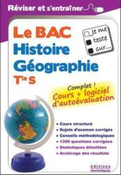 JE ME TESTE SUR... ; le bac histoire-géographie ; terminale S - Couverture - Format classique