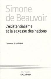 L'existentialisme et la sagesse des Nations - Couverture - Format classique