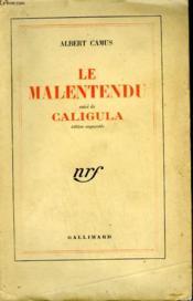 Le Malentendu Suivi De Caligula. - Couverture - Format classique