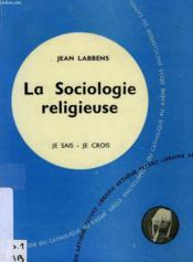 La Sociologie Religieuse - Couverture - Format classique