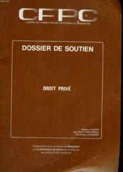 Dossier De Soutien Droit Prive - Couverture - Format classique