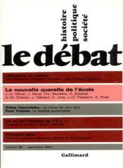 Revue Le Débat N.31 - Couverture - Format classique