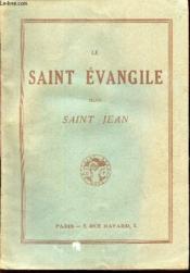 Le Saint Evangile Selon Saint Jean - Couverture - Format classique