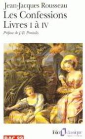 Les confessions - livres i a iv - Couverture - Format classique