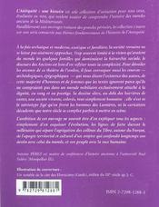 La Societe Romaine L'Antiquite Une Histoire - 4ème de couverture - Format classique