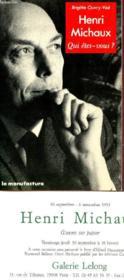 Henri michaux - Couverture - Format classique