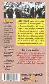 Noir Desir De A A Z - 4ème de couverture - Format classique
