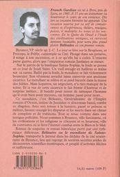 Belisaire, Ou Le Mendiant De Sainte-Sophie - 4ème de couverture - Format classique