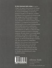 Les Etats-unis et la guerre d'Algérie - 4ème de couverture - Format classique