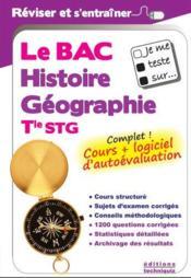 JE ME TESTE SUR... ; le bac histoire-géographie ; terminale STG - Couverture - Format classique
