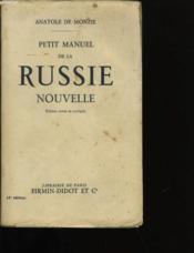 Petit Manuel De La Russie Nouvelle. - Couverture - Format classique