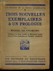 Trois nouvelles exemplaires & un prologue. - Couverture - Format classique